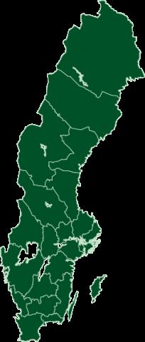 Sverigekarta PRODIS